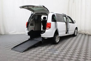 Used Wheelchair Van For Sale: 2015 Dodge Grand Caravan SXT Wheelchair Accessible Van For Sale with a AMS Vans Edge on it. VIN: 2C4RDGCGXFR585200