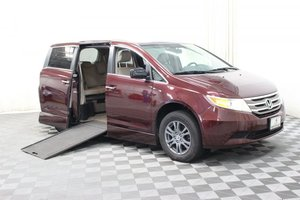 Used Wheelchair Van For Sale: 2013 Honda Odyssey EX-L Wheelchair Accessible Van For Sale with a RollX In Floor on it. VIN: 5FNRL5H64DB064392