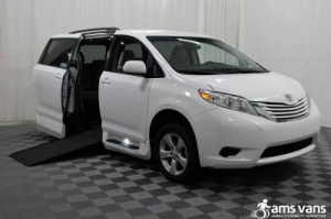 New Wheelchair Van For Sale: 2015 Toyota Sienna LE Wheelchair Accessible Van For Sale with a Able2Go Genesis on it. VIN: 5TDKK3DC6FS558644