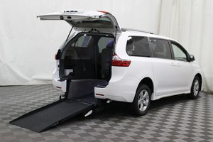 New Wheelchair Van For Sale: 2018 Toyota Sienna LE Wheelchair Accessible Van For Sale with a AMS Vans Exodus on it. VIN: 5TDKZ3DC1JS901445