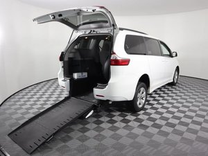 Used Wheelchair Van For Sale: 2018 Toyota Sienna L Wheelchair Accessible Van For Sale with a AMS Vans Exodus on it. VIN: 5TDKZ3DC7JS905824