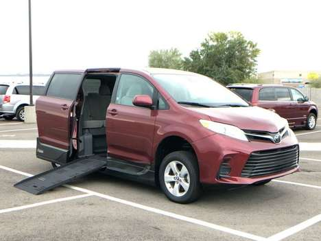 Used Wheelchair Van For Sale: 2018 Toyota Sienna LE Wheelchair Accessible Van For Sale with a AMS Vans Legend II T on it. VIN: 5TDKZ3DCXJS903856