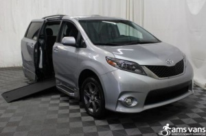New Wheelchair Van For Sale: 2015 Toyota Sienna SE Wheelchair Accessible Van For Sale with a Able2Go Genesis on it. VIN: 5TDXK3DC7FS568377