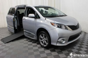 New Wheelchair Van For Sale: 2014 Toyota Sienna SE Wheelchair Accessible Van For Sale with a Able2Go Genesis on it. VIN: 5TDXK3DCXES421646
