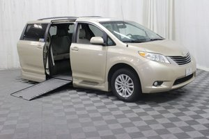 Used Wheelchair Van For Sale: 2014 Toyota Sienna XLE Wheelchair Accessible Van For Sale with a Braun Entervan XT on it. VIN: 5TDYK3DC4ES440536