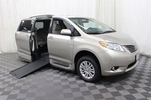 New Wheelchair Van For Sale: 2017 Toyota Sienna XLE Wheelchair Accessible Van For Sale with a AMS Vans Genesis on it. VIN: 5TDYZ3DC0HS894069