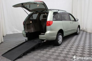 New Wheelchair Van For Sale: 2008 Toyota Sienna LE Wheelchair Accessible Van For Sale with a Able2Go Exodus on it. VIN: 5TDZK23C98S123436
