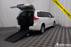 New Wheelchair Van For Sale: 2013 Toyota Sienna  Wheelchair Accessible Van For Sale with a Able2Go Exodus on it. VIN: 5TDZK3DC3DS301646