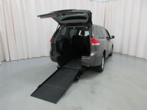 New Wheelchair Van For Sale: 2013 Toyota Sienna  Wheelchair Accessible Van For Sale with a Able2Go Exodus on it. VIN: 5TDZK3DC3DS323498