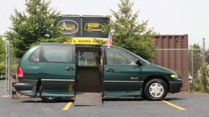 Used Wheelchair Van For Sale: 1998 Chrysler Town & Country LE Wheelchair Accessible Van For Sale with a Rollx Vans - Rollx Fold Out Chrysler on it. VIN: 2P4GP44G7WR661818