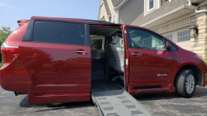 Used Wheelchair Van For Sale: 2015 Toyota Sienna XLE Wheelchair Accessible Van For Sale with a BraunAbility - Toyota Rampvan XT on it. VIN: 5TDYK3DC7FS652834
