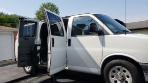 Used Wheelchair Van For Sale: 2013 Chevrolet Express LT Wheelchair Accessible Van For Sale with a BraunAbility - Chevrolet Entervan on it. VIN: 1GNSGCF40D1168020