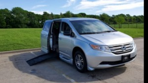 Used Wheelchair Van For Sale: 2011 Honda Odyssey EX Wheelchair Accessible Van For Sale with a BraunAbility - Honda Entervan II on it. VIN: 5fnrl5h40bb094419