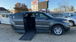 Used Wheelchair Van For Sale: 2015 Ford Explorer LT Wheelchair Accessible Van For Sale with a BraunAbility - MXV Wheelchair SUV on it. VIN: 1FM5K7D85FGC42013