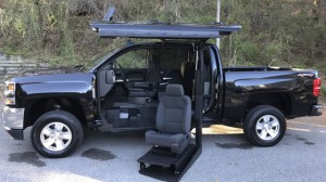 New Wheelchair Van For Sale: 2017 Chevrolet Silverado 1500 LT  Wheelchair Accessible Van For Sale with a ATC Wheelchair Truck Conversions - 1500 Chevy & GMC Trucks on it. VIN: 3GCUKREC7HG248255