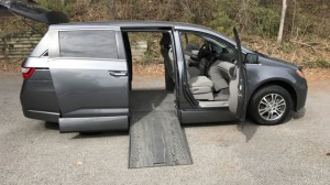 Used Wheelchair Van For Sale: 2013 Honda Odyssey EX  Wheelchair Accessible Van For Sale with a Rollx Vans - Rollx In Floor Honda on it. VIN: 5FNRL5H49DB026669