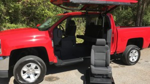 New Wheelchair Van For Sale: 2017 Chevrolet Silverado 1500 LT  Wheelchair Accessible Van For Sale with a ATC Wheelchair Truck Conversions - 1500 Chevy & GMC Trucks on it. VIN: 3GCPCREC7HG348236