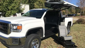 Used Wheelchair Van For Sale: 2014 GMC Sierra 1500 Base  Wheelchair Accessible Van For Sale with a ATC Wheelchair Truck Conversions - 1500 Chevy & GMC Trucks on it. VIN: 3GTU2TEC6EG432918