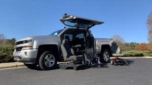 New Wheelchair Van For Sale: 2018 Chevrolet Silverado  Wheelchair Accessible Van For Sale with a ATC Wheelchair Truck Conversions - 1500 Chevy & GMC Trucks on it. VIN: 3GCUKREC1JG424321