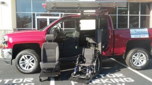 New Wheelchair Van For Sale: 2018 Chevrolet Silverado LT Wheelchair Accessible Van For Sale with a ATC Wheelchair Truck Conversions - 1500 Chevy & GMC Trucks on it. VIN: 3GCPCREC0JG382735