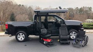 Used Wheelchair Van For Sale: 2017 Chevrolet Silverado LT Wheelchair Accessible Van For Sale with a ATC Wheelchair Truck Conversions - 1500 Chevy & GMC Trucks on it. VIN: 3GCUKRECXHG484334