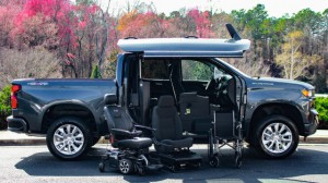 New Wheelchair Van For Sale: 2019 Chevrolet Silverado Crew Wheelchair Accessible Van For Sale with a ATC Wheelchair Truck Conversions - 1500 Chevy & GMC Trucks on it. VIN: 1GCUYBEF6KZ171255