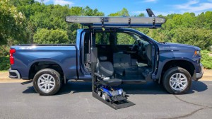 New Wheelchair Van For Sale: 2019 Chevrolet Silverado Crew Wheelchair Accessible Van For Sale with a ATC Wheelchair Truck Conversions - 1500 Chevy & GMC Trucks on it. VIN: 3GCUYDED2KG128042