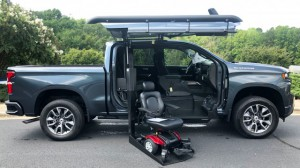 New Wheelchair Van For Sale: 2019 Chevrolet Silverado Crew Wheelchair Accessible Van For Sale with a ATC Wheelchair Truck Conversions - 1500 Chevy & GMC Trucks on it. VIN: 3GCPWDED4KG245284
