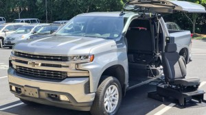 New Wheelchair Van For Sale: 2019 Chevrolet Silverado Crew Wheelchair Accessible Van For Sale with a ATC Wheelchair Truck Conversions - 1500 Chevy & GMC Trucks on it. VIN: 1GCUYEED5KZ160263