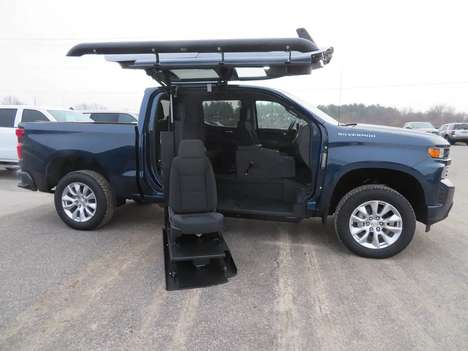 New Wheelchair Van For Sale: 2021 Chevrolet Silverado S Wheelchair Accessible Van For Sale with a ATC on it. VIN: 1GCPWBEF6MZ118254
