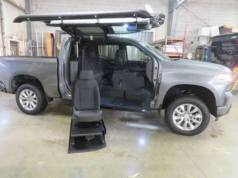 New Wheelchair Van For Sale: 2021 Chevrolet Silverado S Wheelchair Accessible Van For Sale with a ATC on it. VIN: 1GCUYBEF3MZ100520