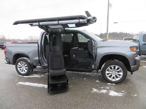 New Wheelchair Van For Sale: 2021 Chevrolet Silverado S Wheelchair Accessible Van For Sale with a ATC on it. VIN: 1GCUYBEF3MZ100551