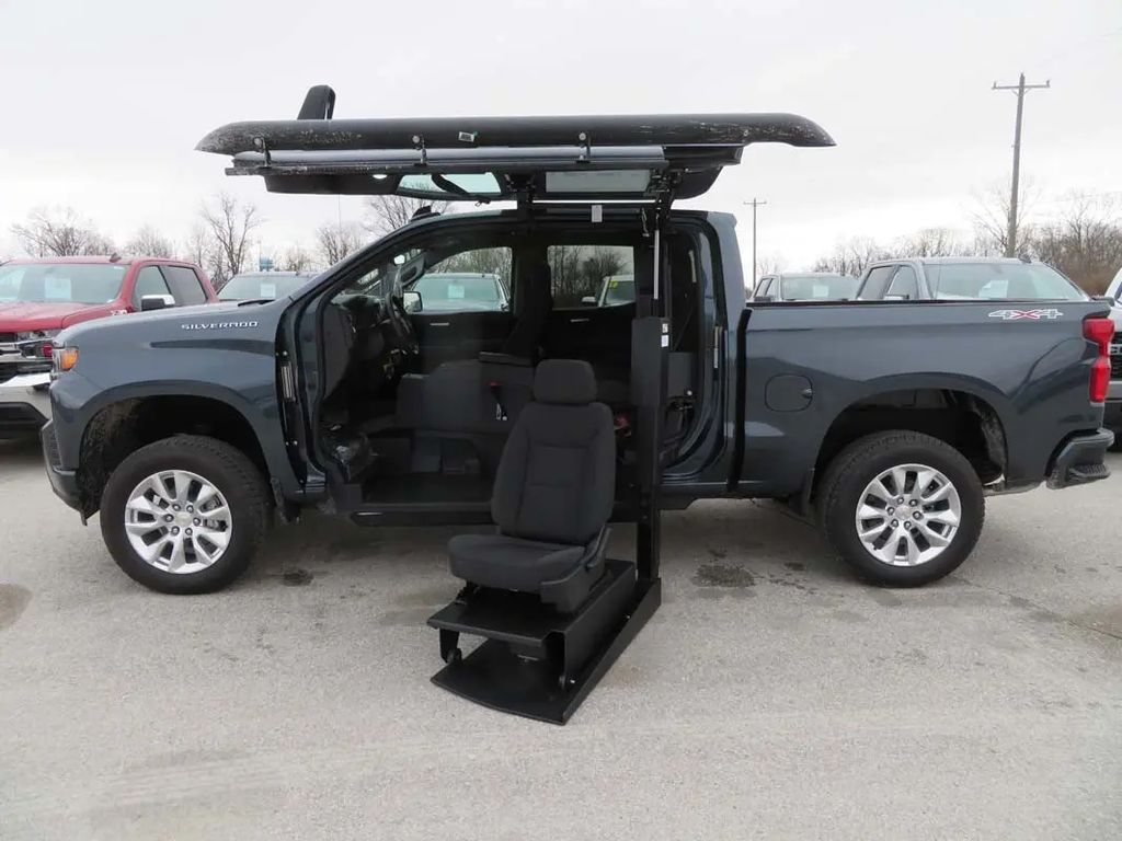 New Wheelchair Van For Sale: 2021 Chevrolet Silverado S Wheelchair Accessible Van For Sale with a ATC on it. VIN: 1GCUYBEF3MZ104843