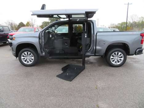 New Wheelchair Van For Sale: 2021 Chevrolet Silverado S Wheelchair Accessible Van For Sale with a ATC on it. VIN: 1GCUYBEF3MZ106169