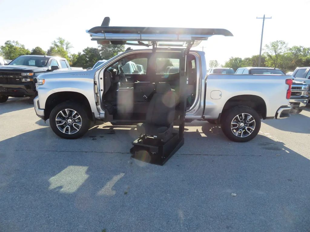 New Wheelchair Van For Sale: 2020 Chevrolet Silverado RST Wheelchair Accessible Van For Sale with a ATC on it. VIN: 3GCPWDED3LG116647