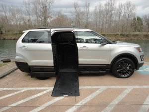 Used Wheelchair Van For Sale: 2017 Ford Explorer LT Wheelchair Accessible Van For Sale with a BraunAbility MXV Wheelchair SUV on it. VIN: 1FM5K7D80HGC58168
