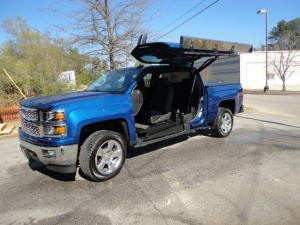 Used Wheelchair Van For Sale: 2015 Chevrolet Silverado Crew Wheelchair Accessible Van For Sale with a ATC Wheelchair Truck Conversions 1500 Chevy & GMC Trucks on it. VIN: 3GCPCREC8FG251446