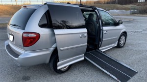 Used Wheelchair Van For Sale: 2005 Chrysler Town & Country Touring Wheelchair Accessible Van For Sale with a AMS - Chrysler Edge II Rear Entry on it. VIN: 2C4GP54L35R456390