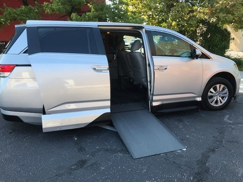 Used Wheelchair Van For Sale: 2014 Honda Odyssey EX-L Wheelchair Accessible Van For Sale with a VMI - Honda Northstar on it. VIN: EB024992