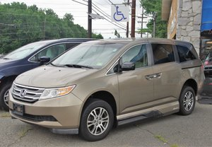 Used Wheelchair Van For Sale: 2011 Honda Odyssey LE Wheelchair Accessible Van For Sale with a VMI  In Floor on it. VIN: 5FNRL3H97AB077759