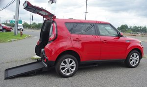Used Wheelchair Van For Sale: 2016 Kia Soul  Wheelchair Accessible Van For Sale with a Freedom Ramp on it. VIN: KNDJP3A51G7824926