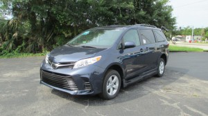 New Wheelchair Van For Sale: 2019 Toyota Sienna LE Wheelchair Accessible Van For Sale with a BraunAbility Toyota Rampvan XL on it. VIN: 5TDKZ3DC5KS981463