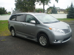 New Wheelchair Van For Sale: 2017 Toyota Sienna XLE Wheelchair Accessible Van For Sale with a BraunAbility XL Rampvan XL on it. VIN: 11041