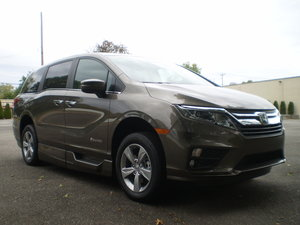 New Wheelchair Van For Sale: 2019 Honda Odyssey EX-L Wheelchair Accessible Van For Sale with a BraunAbility Power Infloor on it. VIN: 19490