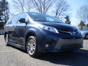 New Wheelchair Van For Sale: 2019 Toyota Sienna XLE Wheelchair Accessible Van For Sale with a BraunAbility Rampvan XL on it. VIN: 20104