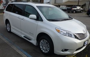 Used Wheelchair Van For Sale: 2016 Toyota Sienna XLE Wheelchair Accessible Van For Sale with a BraunAbility Rampvan XT on it. VIN: 20132