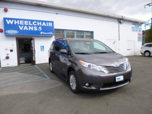 New Wheelchair Van For Sale: 2016 Toyota Sienna XLE Wheelchair Accessible Van For Sale with a BraunAbility Rampvan XT on it. VIN: 6068