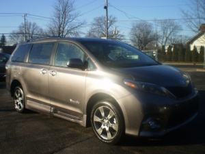 New Wheelchair Van For Sale: 2016 Toyota Sienna Sport Wheelchair Accessible Van For Sale with a BraunAbility Rampvan XT on it. VIN: 6110