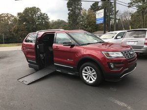 Used Wheelchair Van For Sale: 2016 Ford Explorer LT Wheelchair Accessible Van For Sale with a BraunAbility MXV Wheelchair SUV on it. VIN: 1FM5K7D86GGA13521