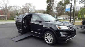 Used Wheelchair Van For Sale: 2016 Ford Explorer Limited Wheelchair Accessible Van For Sale with a BraunAbility MXV Wheelchair SUV on it. VIN: 1FM5K7F87GGC48958